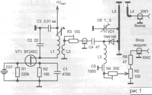 Схема генератора сигнала ДМВ