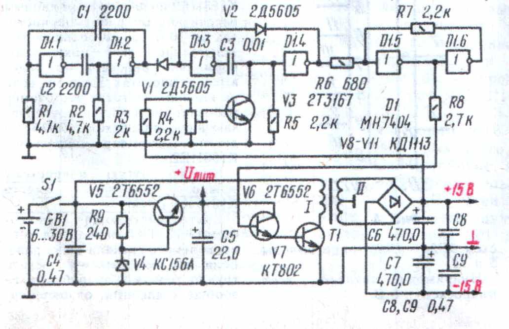 Схема простого шим регулятора.